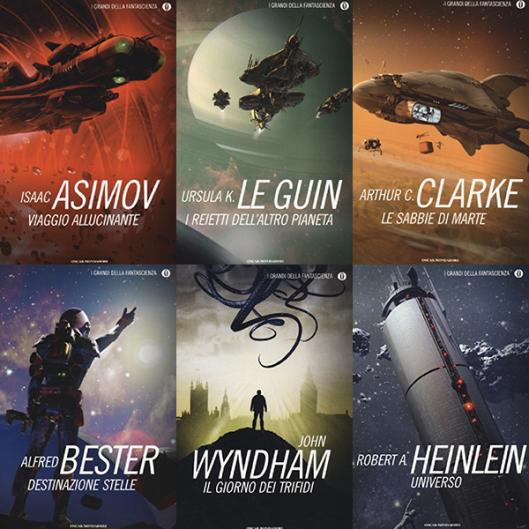 copertine i classici della fantascienza mondadori
